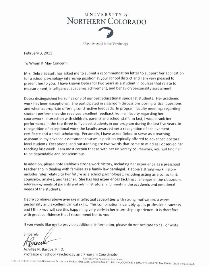 Fulbright Letter Of Recommendation Lovely Reference Letters