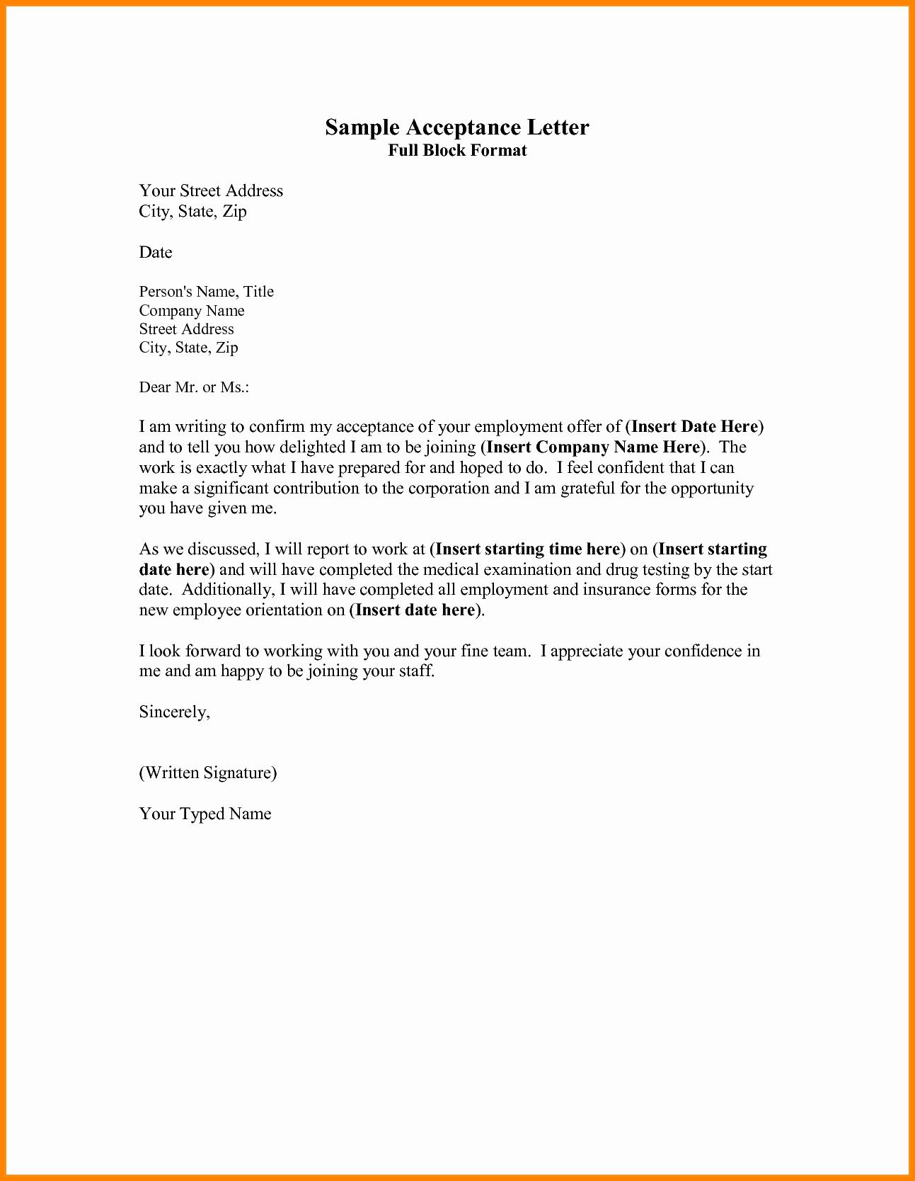 Full Block Business Letter format Best Of 5 Example Of Full Block Business Letter