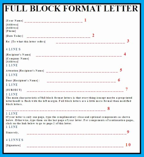 Full Block Business Letter format Best Of 9 Best Of Block Style Letter format Example