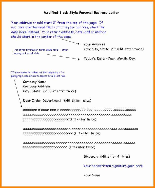 Full Block Business Letter format Fresh 6 Example Of Full Block Letter