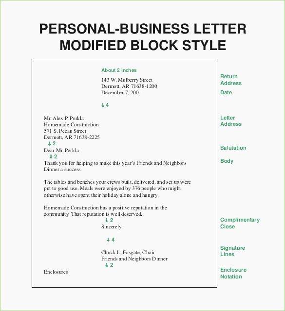 Full Block Business Letter format Inspirational Full Block Style Business Letter format – thepizzashop