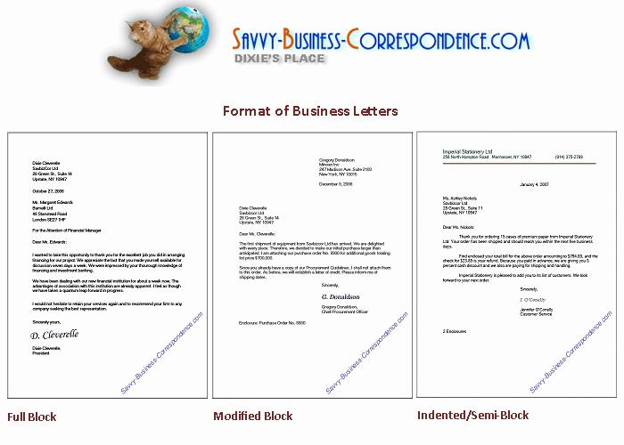Full Block Business Letter format Luxury Business Letter formats From Vy Business