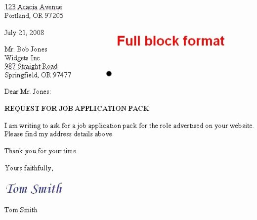 Full Block Letter format Awesome How to format A Us Business Letter