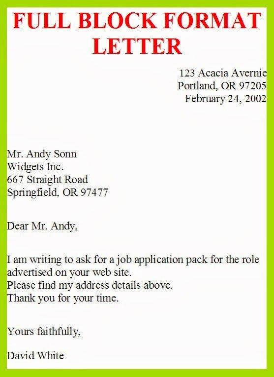 Full Block Letter format Beautiful Business Letter Template Full Block Style