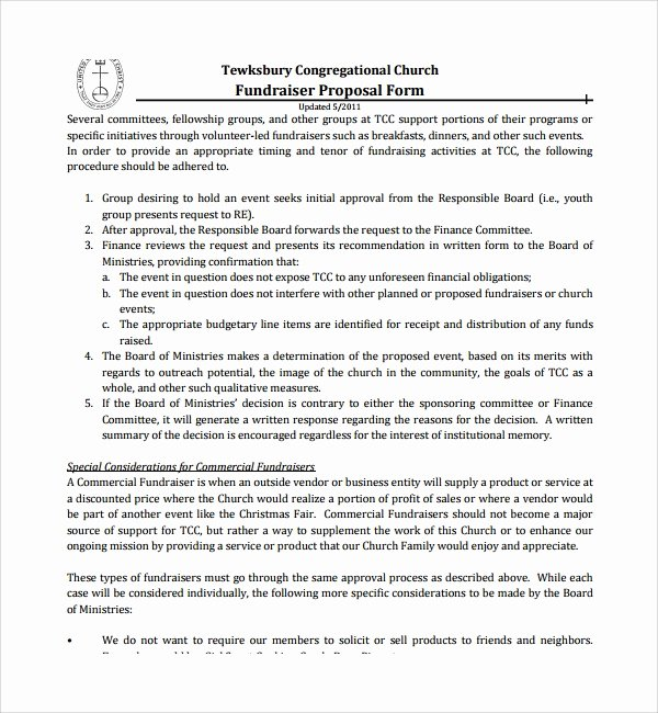 Fundraiser Proposal Letter Fresh 11 Fundraising Proposal Templates