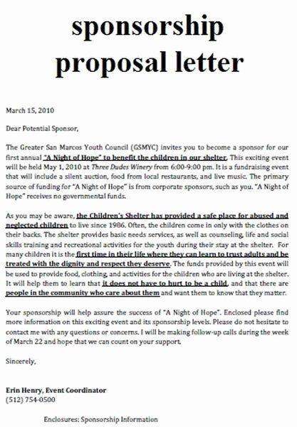 Fundraiser Proposal Letter Fresh Fundraising Infographic Sample Sport event Sponsorship