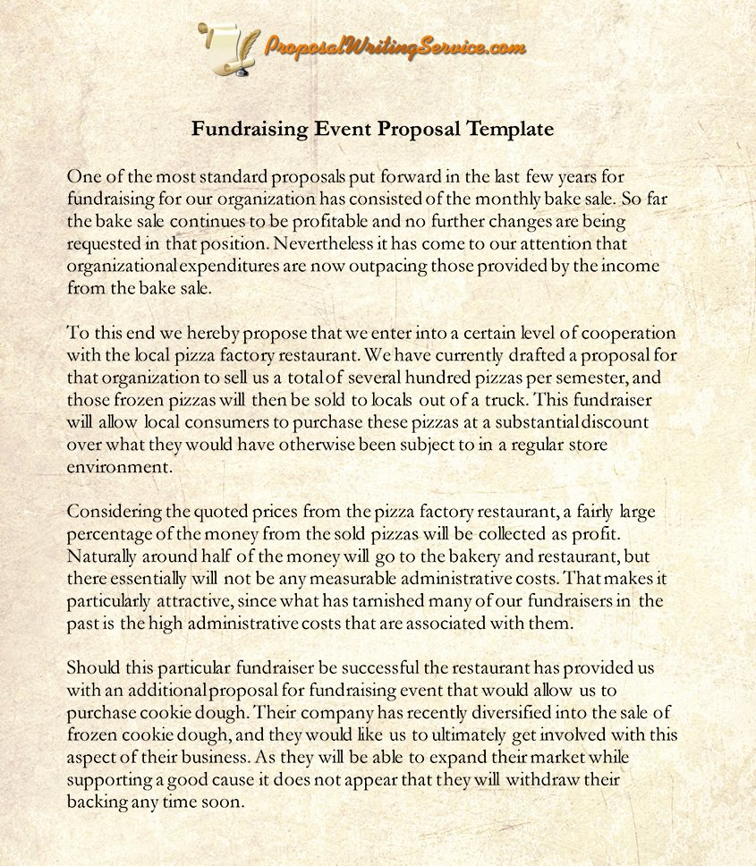 Fundraiser Proposal Letter Lovely 7 Best Of Charity event Proposal Template event