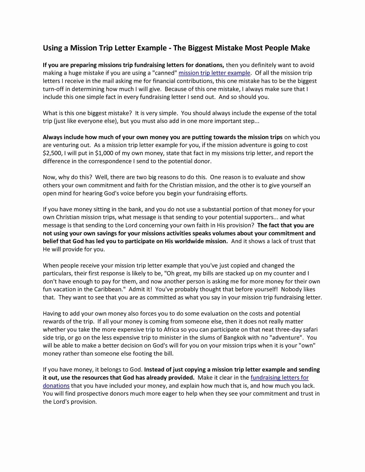 Fundraising Letters for Mission Trips Elegant Calaméo Mission Trip Letter Example