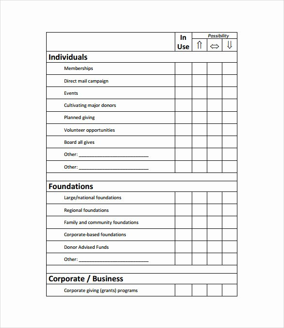 Fundraising Plan Template Excel Lovely 11 Fundraising Plan Samples