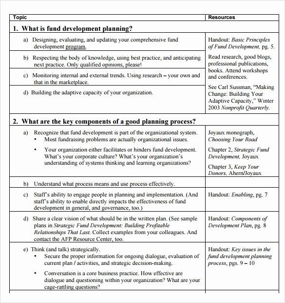 Fundraising Plan Template Free Awesome Sample Development Plan Template 8 Free Documents In