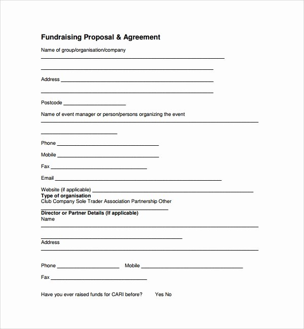 Fundraising Plan Template Free Beautiful 11 Fundraising Proposal Templates