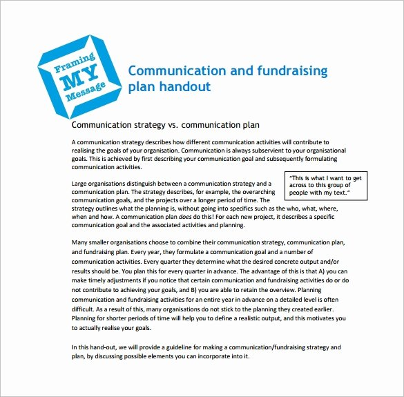 Fundraising Plan Template Free New 17 Fundraising Plan Templates Free Sample Example