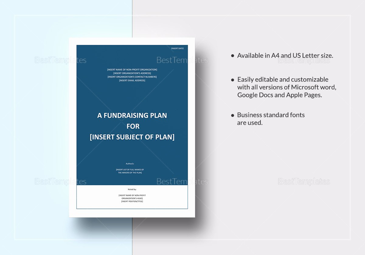 Fundraising Plan Template Word Awesome Sample Fundraising Plan Template In Word Google Docs