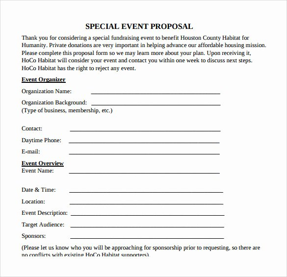 Fundraising Plan Template Word Best Of 30 Sample event Proposal Templates Psd Pdf Word