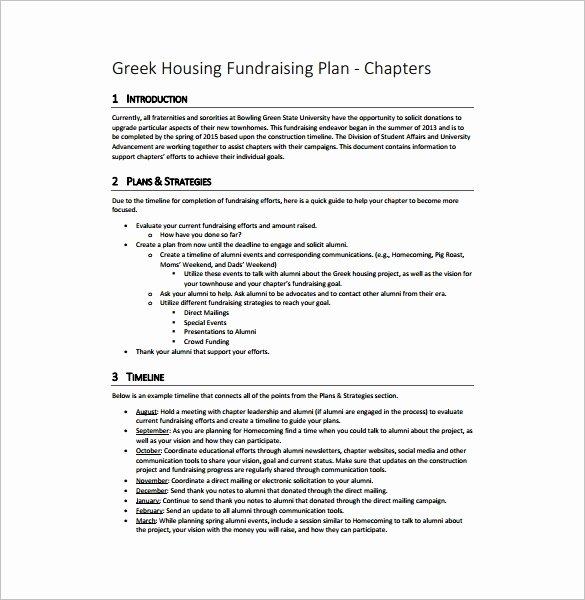 Fundraising Plan Template Word Elegant Fundraising Plan Template – 7 Free Word Pdf Documents