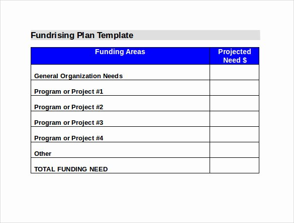 Fundraising Plan Template Word Lovely 11 Fundraising Plan Samples