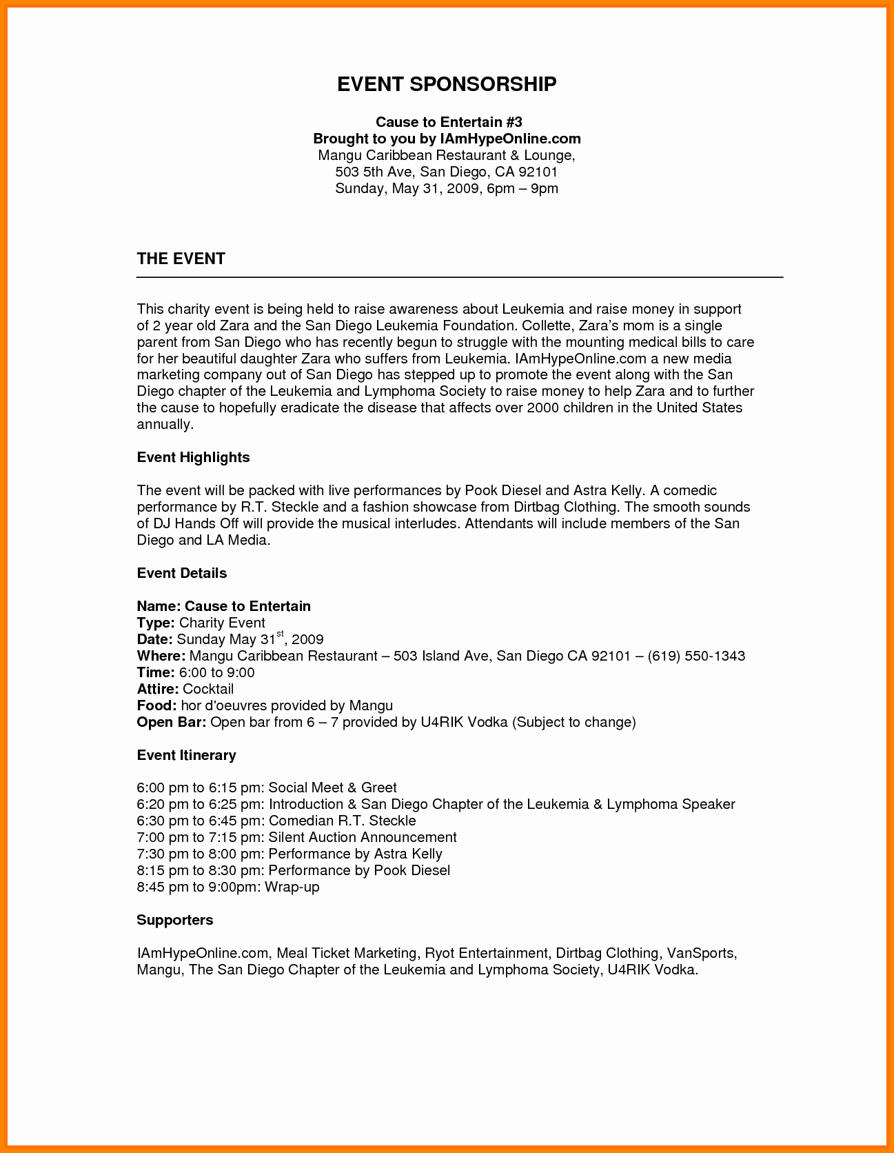 Fundraising Plan Template Word Luxury Image Result for Sponsorship Proposal Template