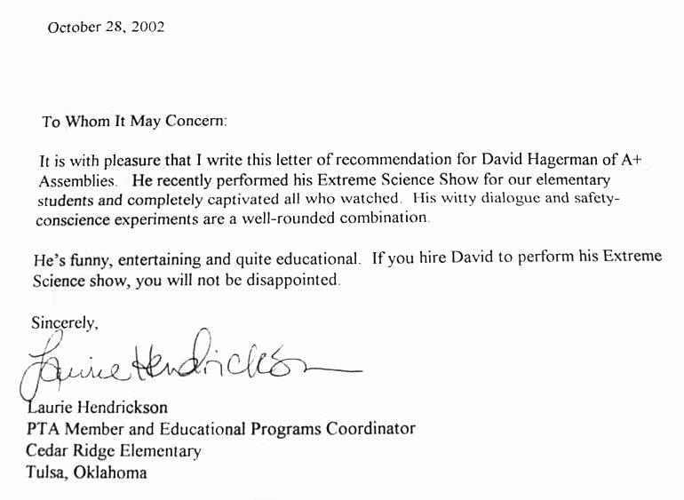 Funny Letter Of Recommendation Lovely Cedar Ridge Elementary Tulsa Ok