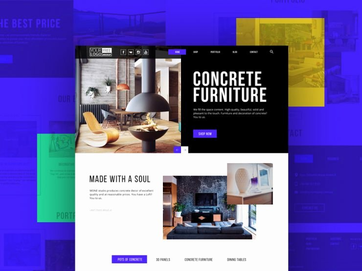 Furniture Templates Free Download Beautiful Modern Furniture Store Template Free Psd Download Psd
