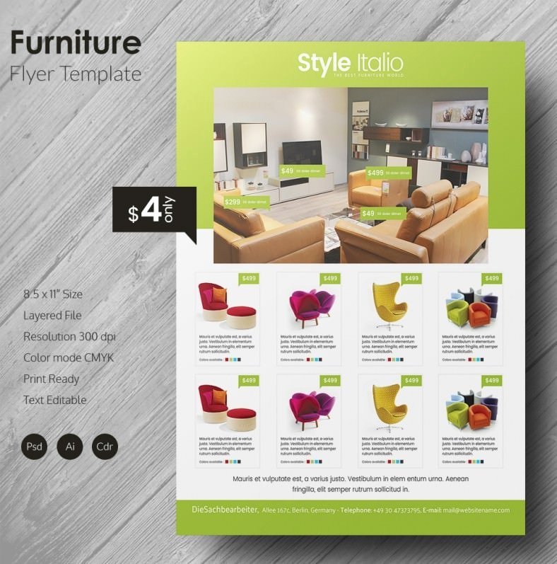 Furniture Templates Free Download Best Of 135 Psd Flyer Templates – Free Psd Eps Ai Indesign
