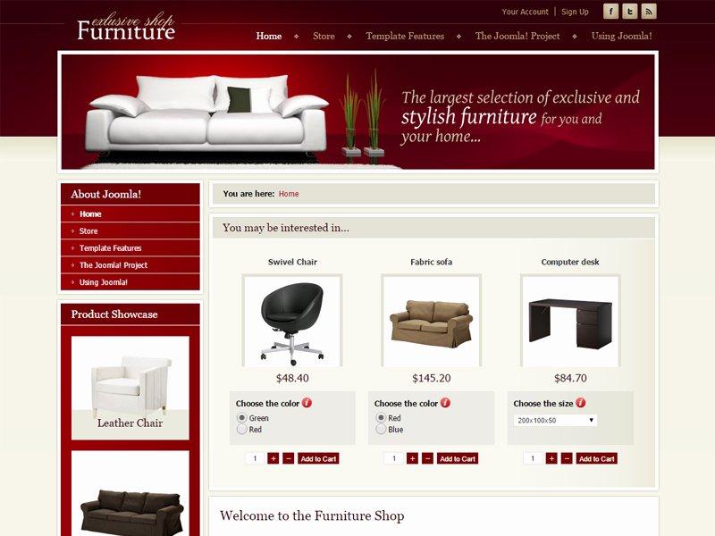 Furniture Templates Free Download Elegant Dj Furniture Store Free Joomla Template for Furniture
