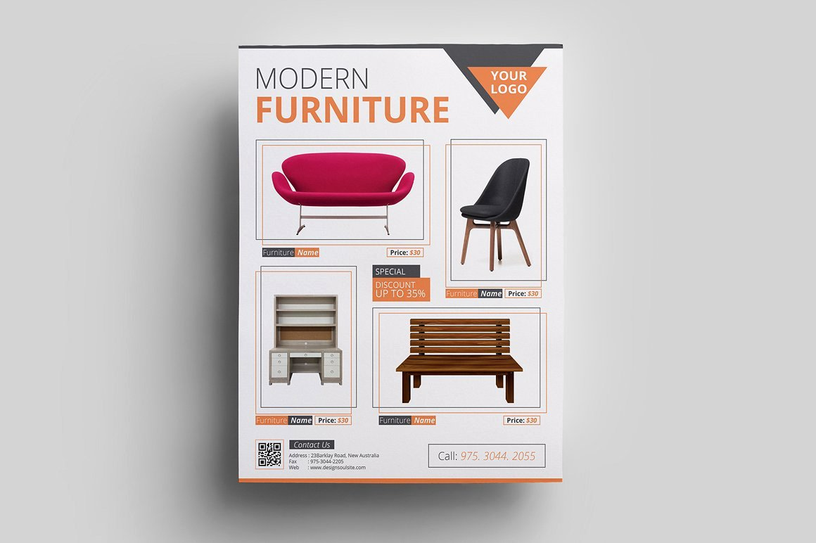 Furniture Templates Free Download Lovely 19 Sales Flyers Ai Psd Word Eps Vector