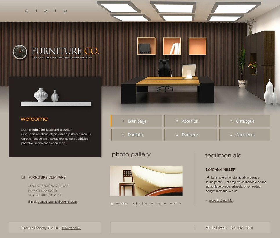 Furniture Templates Free Download New Furniture Website Template Web Design Templates Website
