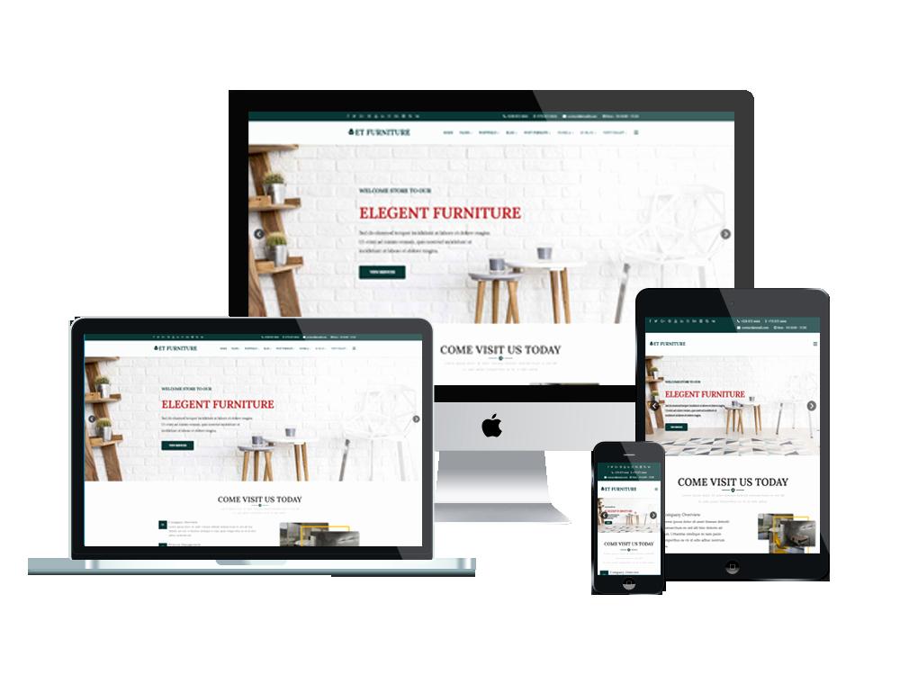 Furniture Templates Free Download Unique Et Furniture – Free Responsive Furniture Website Templates