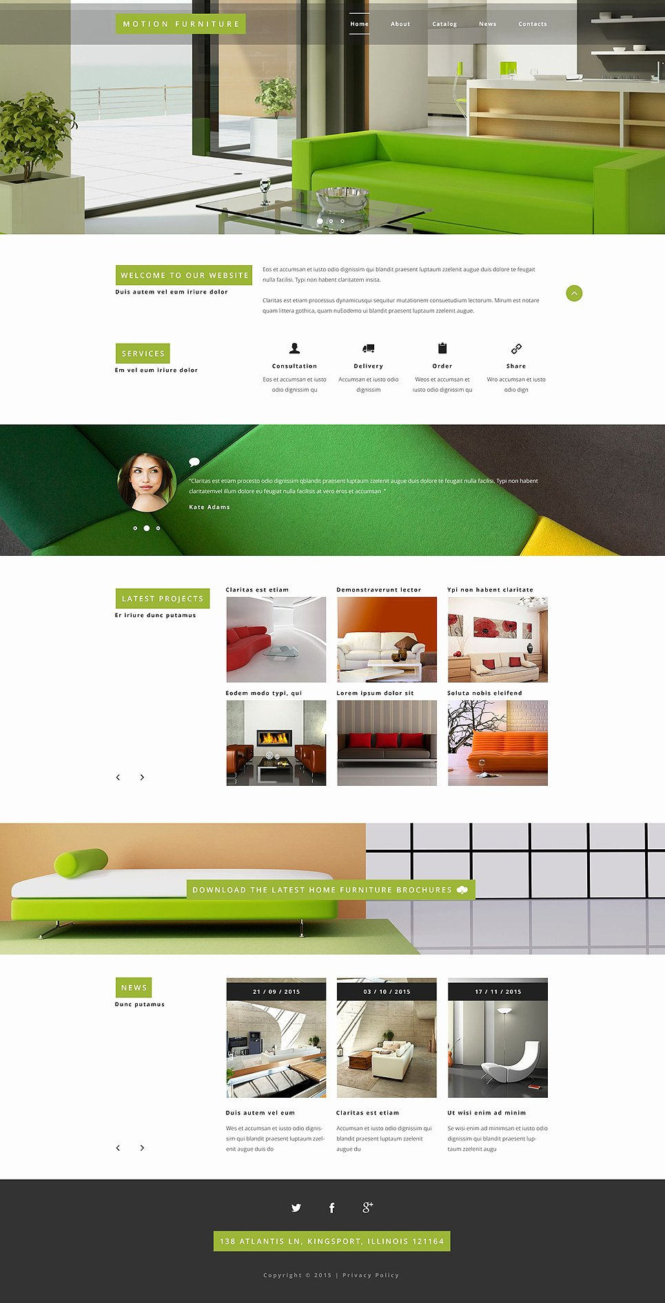 Furniture Templates Free Download Unique Furniture Website Template