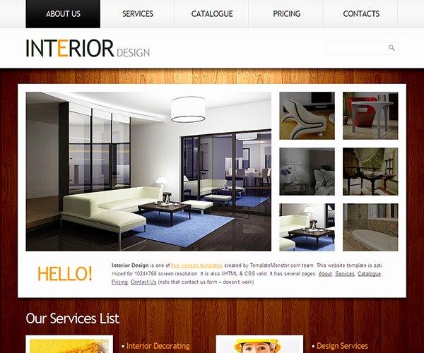 Furniture Templates Free Download Unique Interior Decoration Website Templates Interior Best