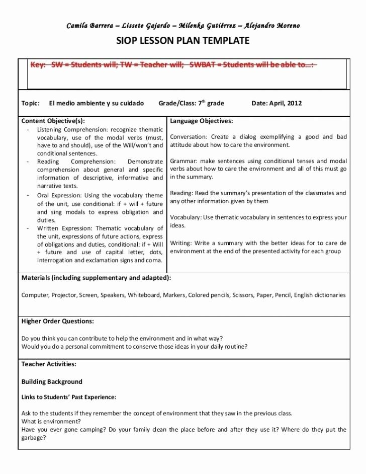 Gcu Lesson Plan Template Awesome Coe Lesson Plan Template Gcu – Edu525 Expectations Of