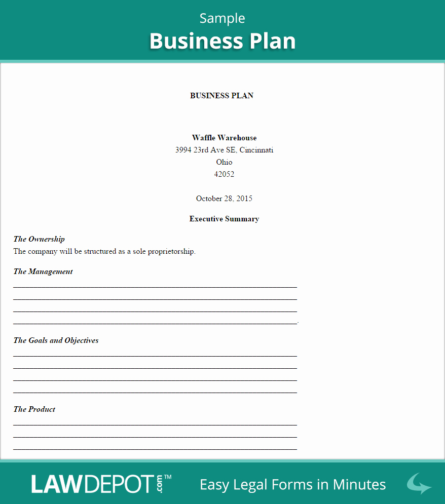 General Contractor Business Plan Template Luxury Business Plan Template