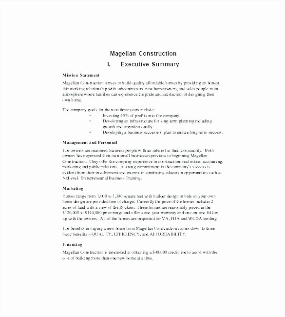 General Contractor Business Plan Template Unique General Contractor Business Plan Template – Autoskloo