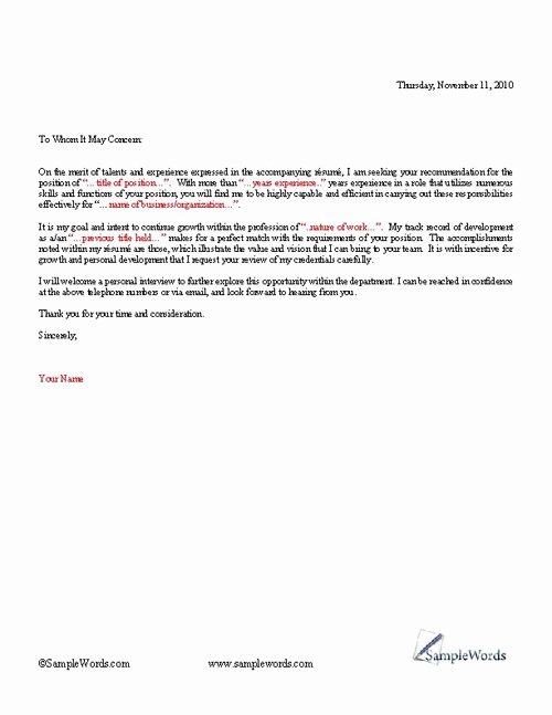 General Cover Letter format Beautiful Basic Cover Letter Template
