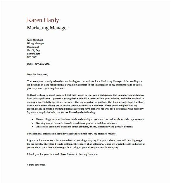 General Cover Letter format Elegant General Cover Letter