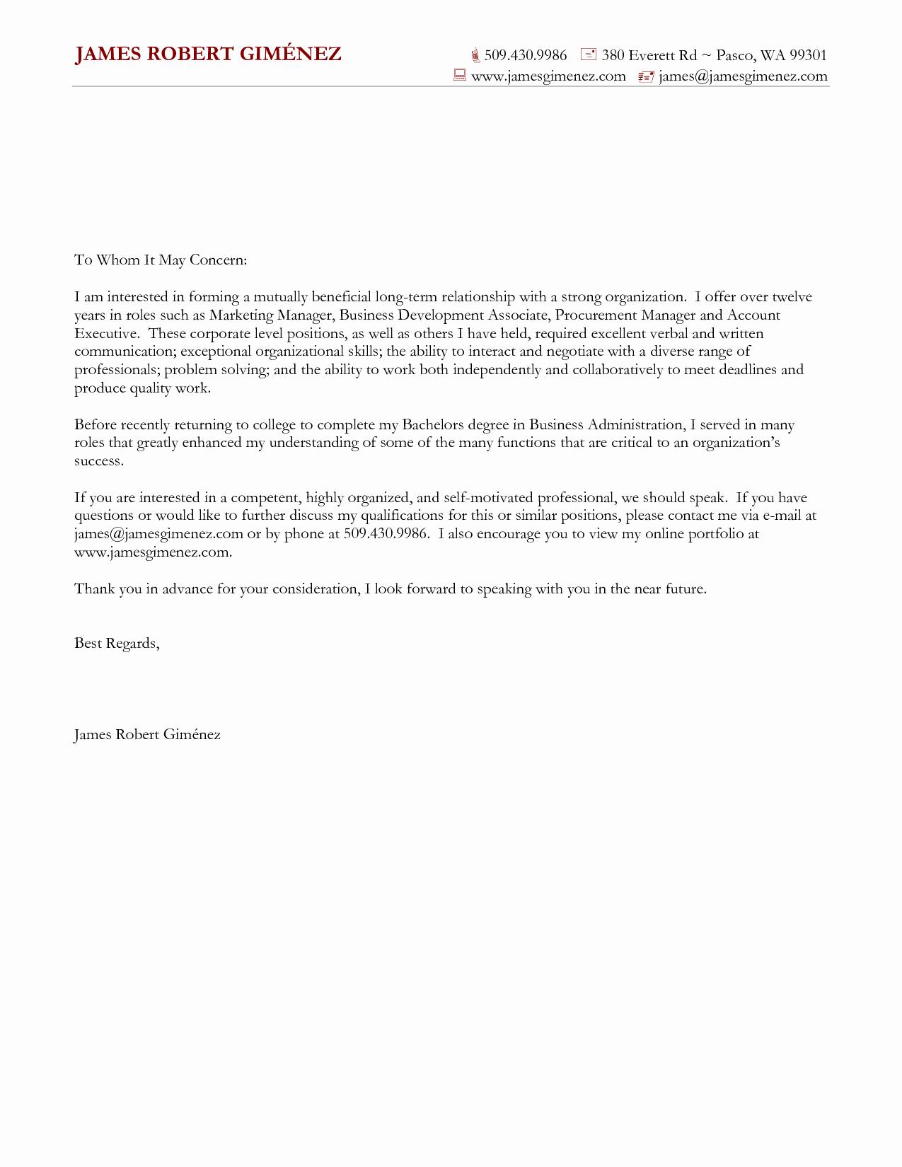 General Cover Letter format Fresh Cover Letter for General Application Cover Letter