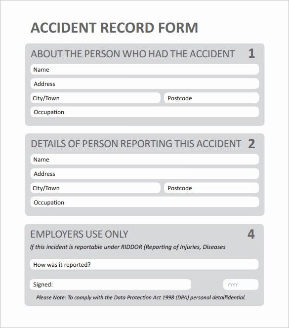 Generic Incident Report Template Awesome 14 Employee Incident Report Templates Pdf Doc