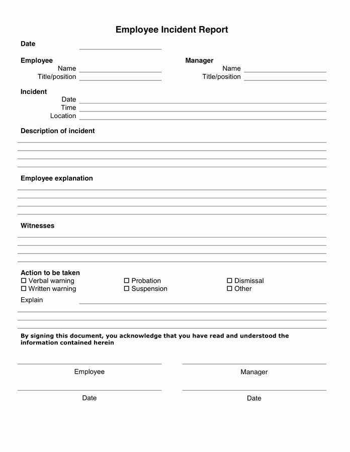 Generic Incident Report Template Fresh 10 Incident Report Templates Word Excel Pdf formats
