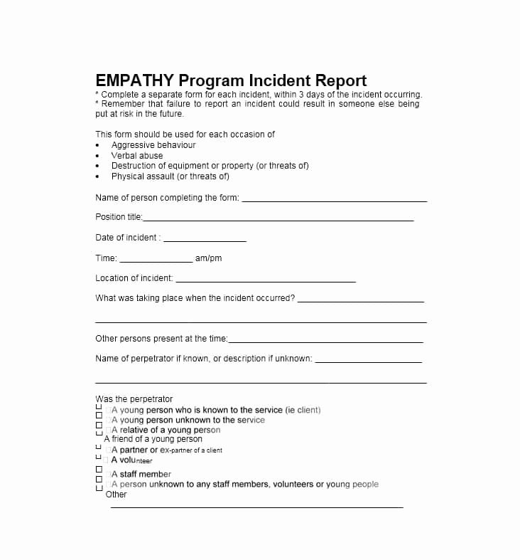 Generic Incident Report Template Lovely 60 Incident Report Template [employee Police Generic