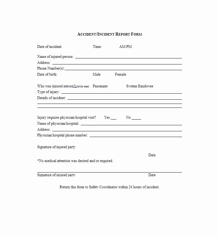 Generic Incident Report Template New 60 Incident Report Template [employee Police Generic]