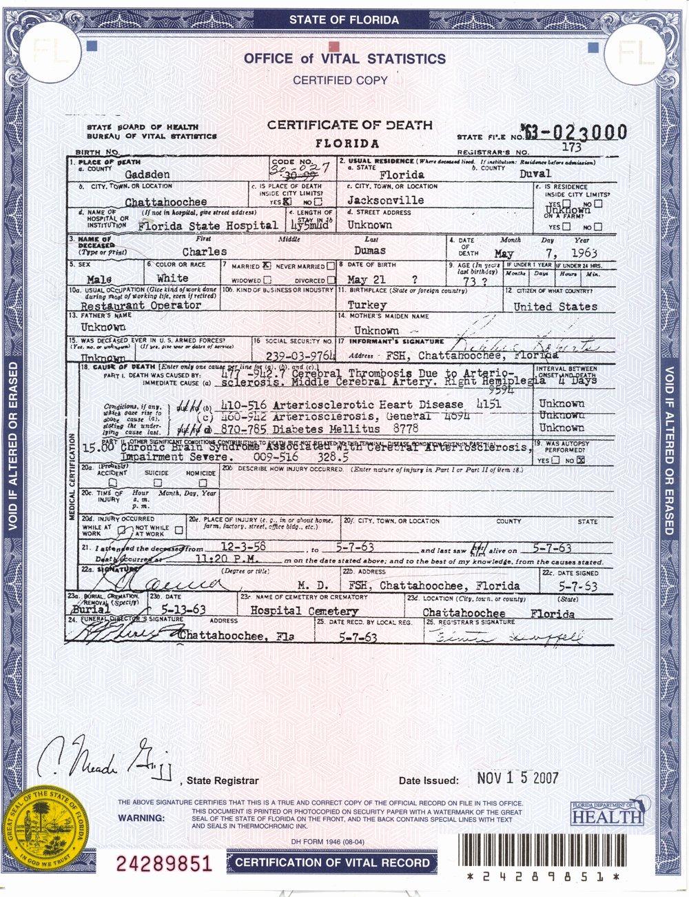 Georgia Death Certificate Template Inspirational sources