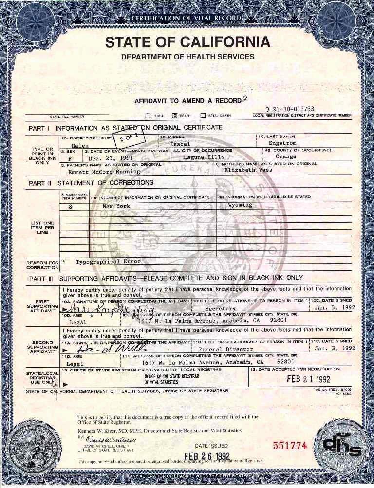 Georgia Death Certificate Template Unique 12 Best Of California Birth Certificate Blank form
