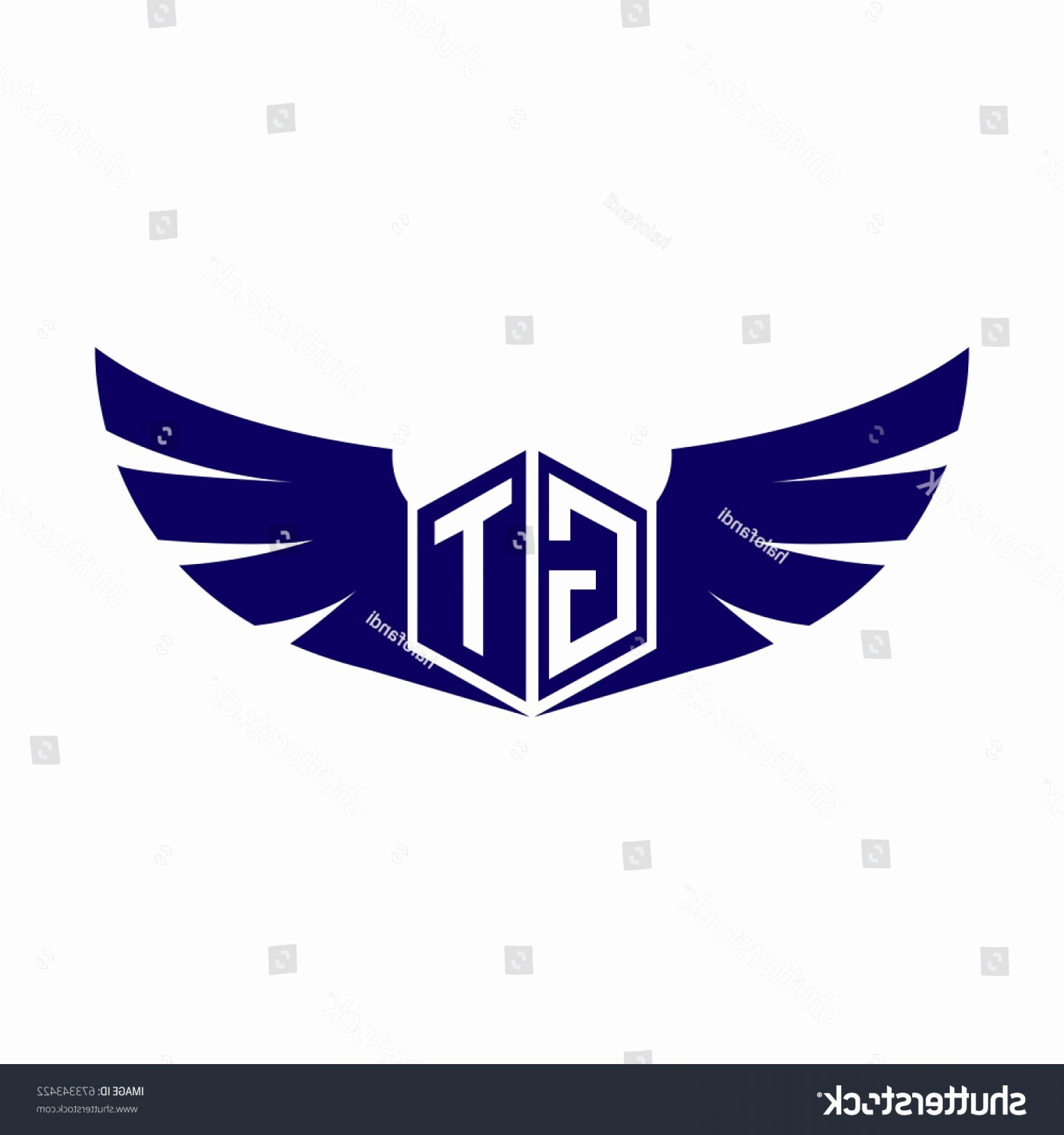 Georgia Tech Recommendation Letter Unique Initial Letter Gt Logo Wings Icon