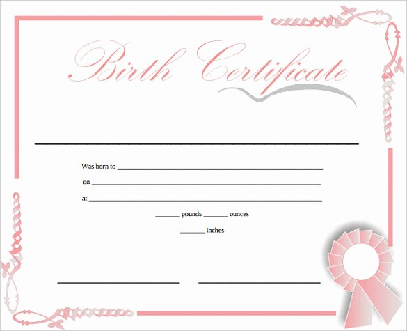 German Birth Certificate Template Fresh Birth Certificate Template Printable Free Download