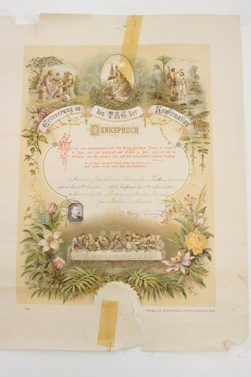 German Birth Certificate Template Lovely Antique German Birth Certificate or Baptism Confirmation