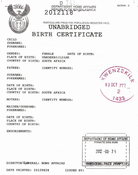 German Birth Certificate Template Luxury Fsa Youth Exchange