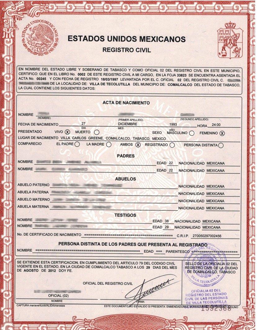 German Birth Certificate Template New Mexicanos Radicados En Eua Podrán Tramitar Gratis Actas De