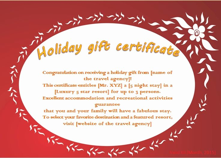Gift Certificate Wording Inspirational 17 Best Ideas About Gift Certificate Templates On