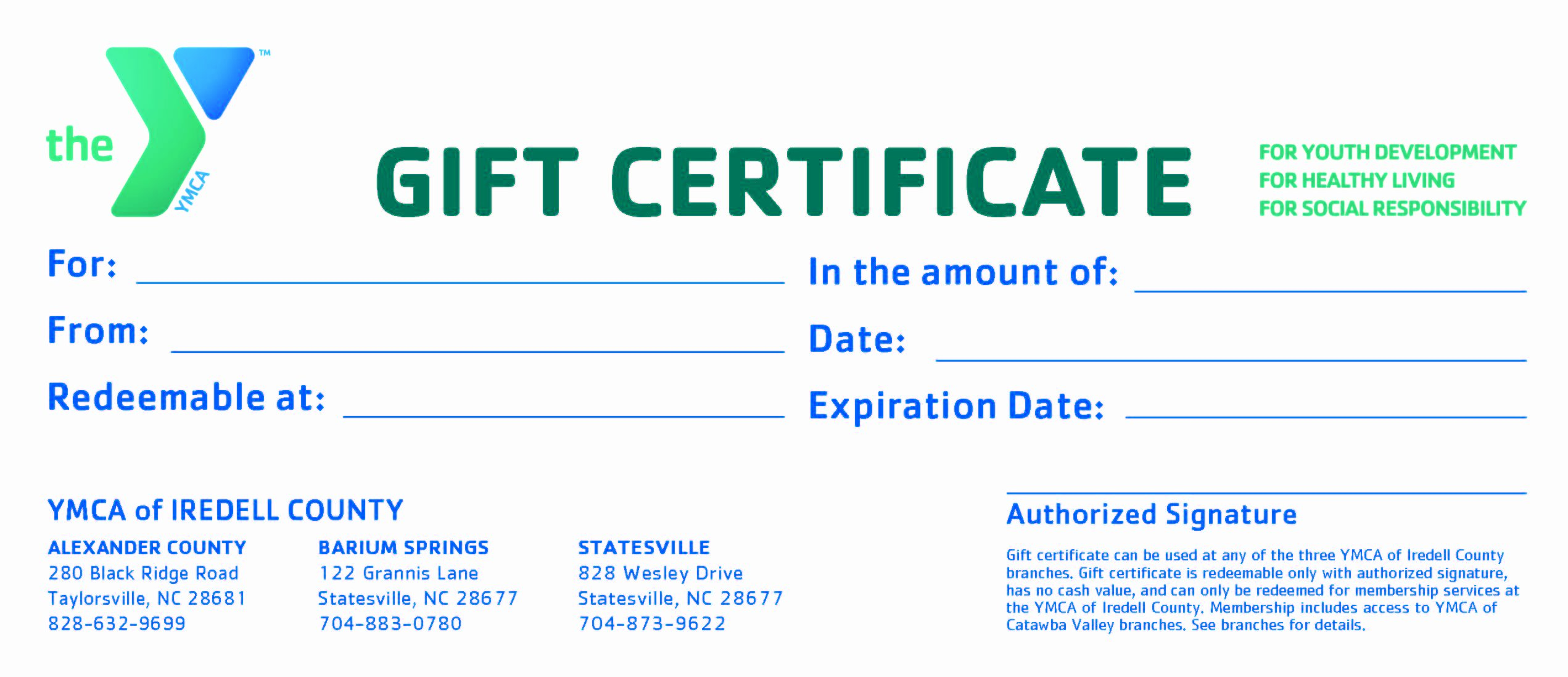 Gift Certificate Wording Inspirational November 2010