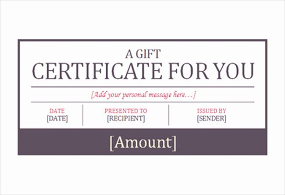 Gift Certificate Wording Lovely 7 Hotel Gift Certificate Templates Free Sample Example